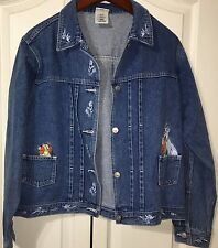 Disney Lady and the Tramp Adult Large Denim Jean Jacket Vintage Embroidered