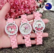 Lady Children Kid Girl Pink Hello Kitty Wrist Watch Christmas Birthday Gift her