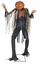Halloween Lifesize Animated SCORCHED TERRIFYING SCARECROW 7' Prop Haunted House