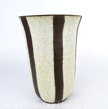 Studio Keramik Vase Mid Century Scandinavian Danish Art Pottery Signed Vtg 1950s