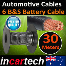 30 METRES X 6B&S Single CORE CABLE DUAL BATTERY SYSTEM 12V 6 B&S 30M 125 AMP