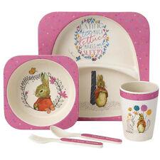 Beatrix Potter Peter Rabbit Flopsy Bunny Organic Bamboo Dinner Set NEW