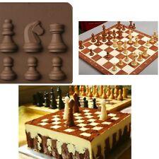 Silicone International chess Fondant Cake  Mold Gum Paste Bakery Decorating Tool