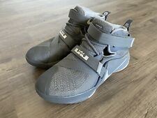 Nike Lebron James soldier VIII 8 gray youth 5Y basketball athletic shoes kids