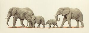 Elephant Stroll Counted Cross Stitch Kit Family of Elephants Cross Stitch