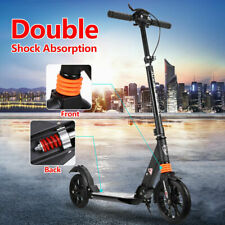Foldable Hand Disc Brake Push Scooter Big Wheel 2 Supention Adult /Child black