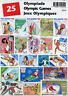 Olympic Games Summer Winter Olympics Sports 25 Diff Stamps Briefmarken Timbres