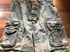 Abercrombie & Fitch Mens Camo Cargo Shorts Sz 34 Exc