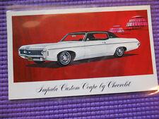 1969 CHEVROLET IMPALA COUPE ORIGINAL DEALER Advertising Postcard nice!!! JALOPY