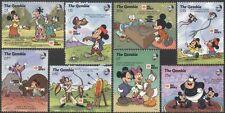 Gambia 1991 Phila Nippon/Disney/Mickey/Hawk/Sports/Games/Animation 8v set n11994