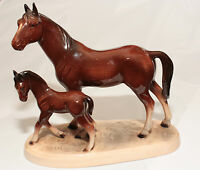 RARE LARGE VINTAGE FIGURINE OF A MARE AND FOAL BY KATZHUTTE, HERTWIG  SKU16177