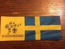 World Scout Jamboree 2010 Sweden RARE Blue Yellow Rectangular Patch