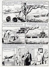 MELLIES : BIGGLES EN AFRIQUE SUPERBE PLANCHE ORIGINALE ARTIMA PAGE 4