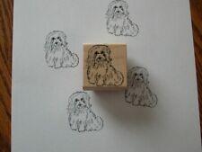 Wooden Coton de Tulear Havanese Stamp
