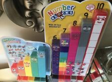 Original Cbeebies Number Blocks 1-10 With 3D Face Stickers, 🥳🤩Toy Educational