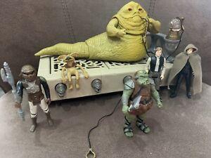 Star Wars Vintage Jabba Kenner 1983 Komplett Incl 4 Figuren Mit Zubehör