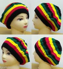 Rasta Reggae headwear Fashion Knit Baggy Beanie Slouch Hat Cap Warm Winter
