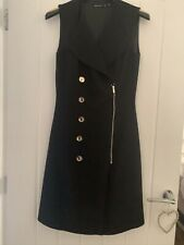 KAREN MILLEN BLACK DRESS WITH GOLD BUTTONS SIZE 8