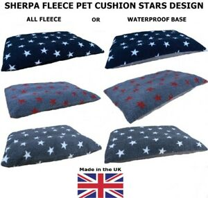 Luxury Feel, Cosy Fleece Dog Bed Pet Cushion, OPTIONS- base, size, spare covers