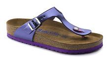 BIRKENSTOCK Gizeh Metallic Violet Soft Footbed LEATHER MSRP $135 EU 37  US 6