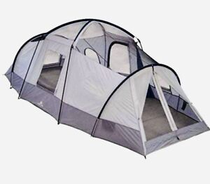 Ozark Trail 10-Person, 20 ft x 10 ft, 3-Room Cabin 3 Season Outdoor Camping Tent