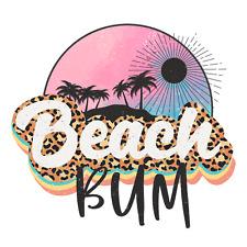 Sublimation Heat Transfer Design Classy Summer Beach Bum Palm Trees