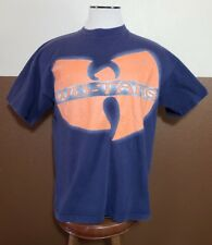VTG mens wu tang t-shirt 1997 Wu-Wear Wu-Tang big logo rare color blue orange