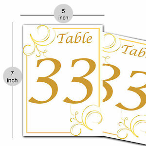 Paper Table Numbers for Wedding or Party Gathering DIY Craft Supply 1-50 Number