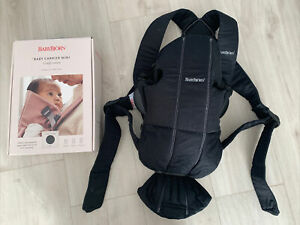 Baby Bjorn Baby Carrier Mini - Comfy Cotton For 0-1 years - Black - Used Twice