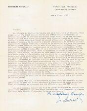 M. PAPON / Lettre signée à propos de la démission de Charles de GAULLE. Mai 1969