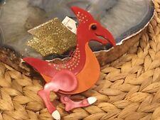 Rare Holiday Time Pterodactyl Dragon Christmas Dinosaur Ornament Holiday