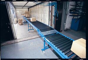 Loading or Unloading Conveyor Telescopic Gravity Roller Conveyor 12M x 600mm