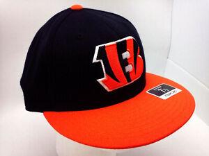 "Cincinnati Bengals Hat ""ONFIELD"" FITTED 2-Tone Wool Flat Bill Hat by Reebok"