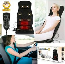 Heated-car-seat-back-massage-cushion-chair-pad-with-10-Vibrating Motors New