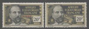 Fr Equatorial Africa 1940-41 France Libre Ovpts set Sc# 80-125 mint