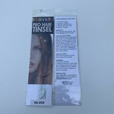 Silver Pro Hair Tinsel Extensions- 1 package 100 Strands