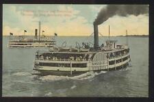 Postcard CEDAR POINT Ohio/OH  Excursion Steamer A. Wehrle Jr. view 1907