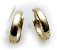 Damen Ohrringe Klapp Creolen Gold 750 18 karat gewölbt schwer 12 mm Gelbgold Neu