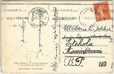 54479 - FRANCE - POSTAL HISTORY:  SPORTS postmark on POSTCARD: TENNIS  1935
