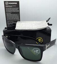 Authentic VONZIPPER Sunglasses VZ ELMORE Shiny Black frame w/Vintage Grey lenses