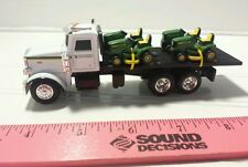1/64 ERTL farm toy custom John deere Peterbilt truck w/ 4 jd lawn mowers s scale