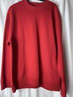 Mens Vintage Lee Cooper Red Logo Buck Skate Sweatshirt Sweater Jumper UK Size L