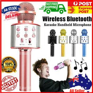 Wireless Bluetooth Microphone Speaker Handheld Mic USB Player KTV Karaoke 4Ω 5W