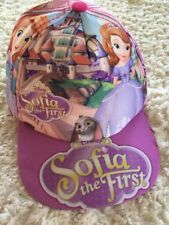 Disney SOFIA THE FIRST Girls Purple Pink Princess Bunny Hat Kids One Size