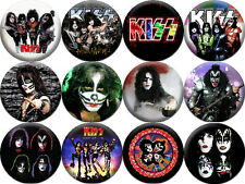 KISS - 12 buttons pins badges (1.5 inch - 38 mm)