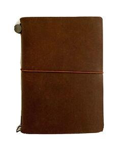 Cool Leather Journal Organizer, Midori Traveler's Notebook, Passport Size