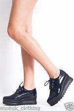 Block Patternless Standard Width (B) Lace-up Heels for Women