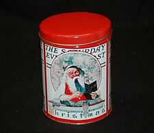 Santa Claus Norman Rockwell The Saturday Evening Post Collection Litho Tin Can a