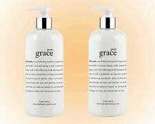 Philosophy Pure Grace Perfumed Body Lotion Duo 16 OZ Each Pump Bottle New