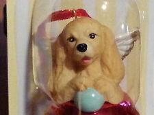 1 Dozen Cocker Spaniel Dog Figurine Red Brass Bell By Dnc Collectibles 12 Pc Lot